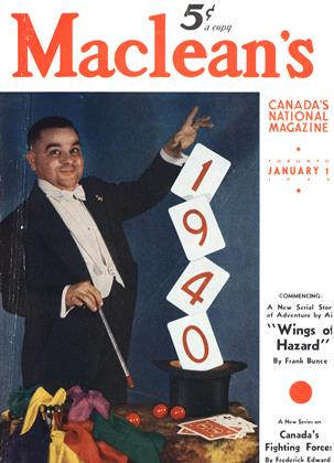 Cover for the January 1 1940 issue