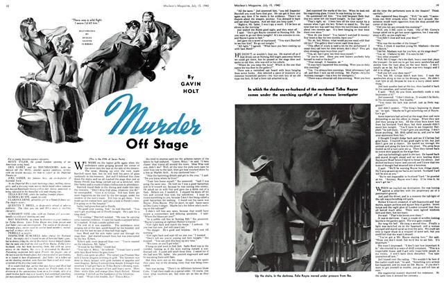 Murder Off Stage