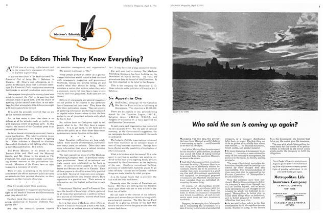 Maclean's Editorials