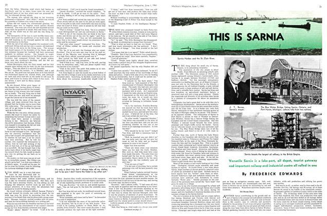 THIS IS SARNIA | Maclean's | JUNE 1 1941