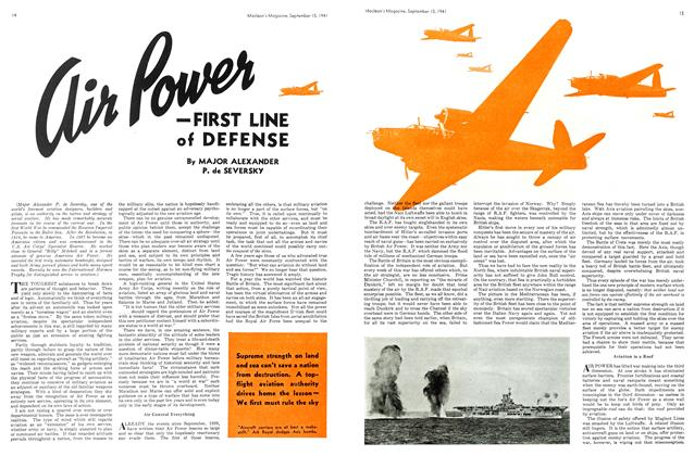 Air Power — FIRST LINE of DEFENSE