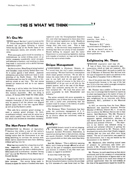 Issue: - January 1942 | Maclean's