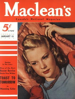 TORONTO JANUARY 15 1942 | Maclean's