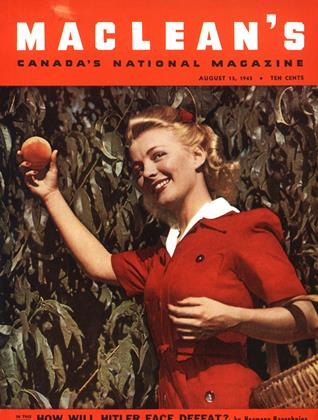 Cover for the August 15 1943 issue