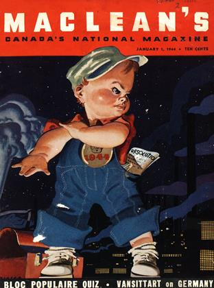Cover for the January 1 1944 issue