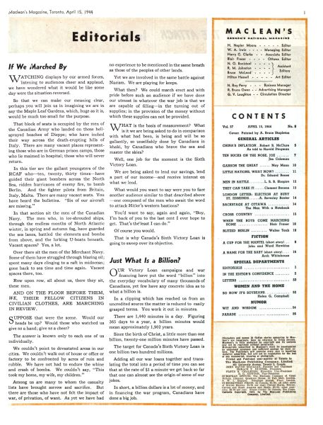Issue: - April 1944 | Maclean's