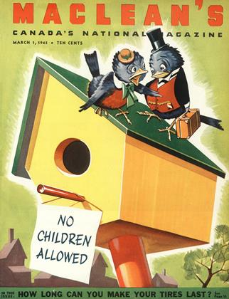 Cover for the March 1 1945 issue