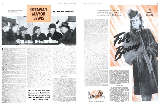 OTTAWA'S MAYOR LEWIS