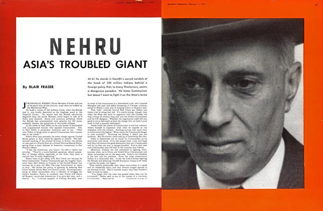 NEHRU ASIA'S TROUBLED GIANT