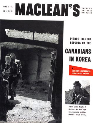 Cover for the June 1 1951 issue