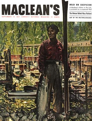 Cover for the September 15 1951 issue