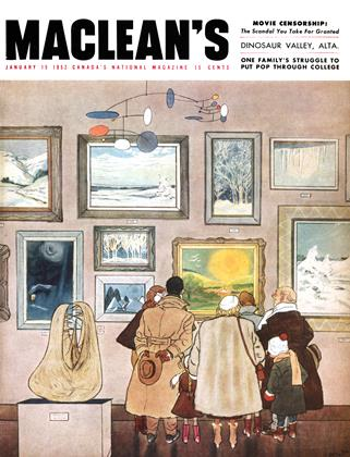 Cover for the January 15 1952 issue