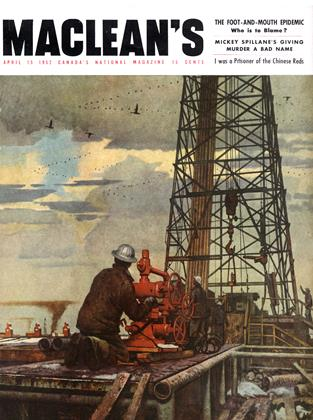 Cover for the April 15 1952 issue
