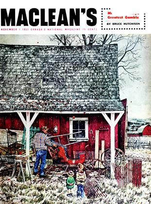 Cover for the November 1 1952 issue
