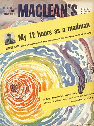 Cover for the October 1 1953 issue