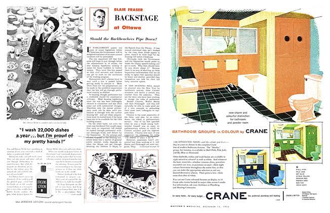 BACKSTAGE at Ottawa | Maclean's | DECEMBER 15, 1953