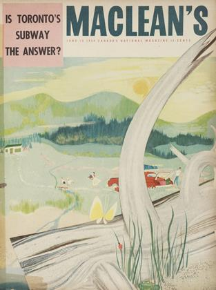 Cover for the June 15 1954 issue