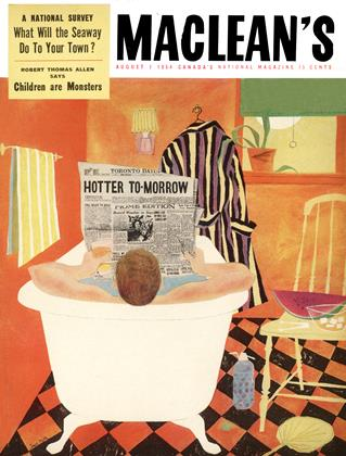 Cover for the August 1 1954 issue