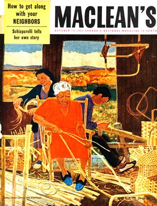 Cover for the October 15 1954 issue