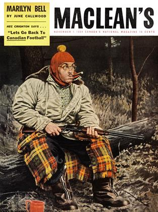 Cover for the November 1 1954 issue