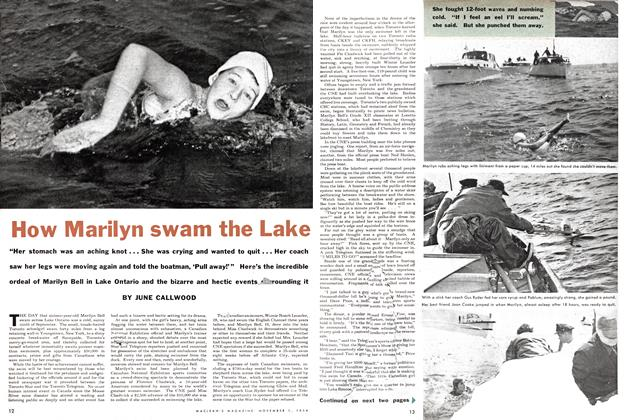 How Marilyn swam the Lake