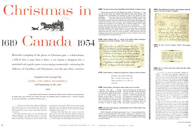 Christmas in 1619 Canada 1954