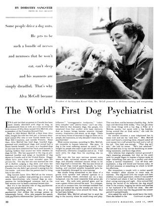 The World's First Dog Psychiatrist, Page: 30 - JUNE 11 1955 | Maclean's