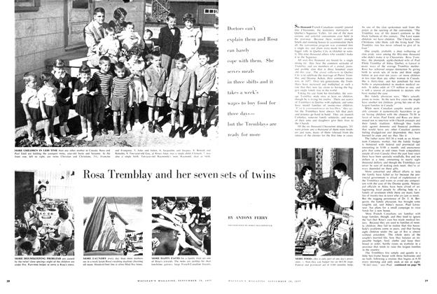 Rosa Tremblay and her seven sets of twins