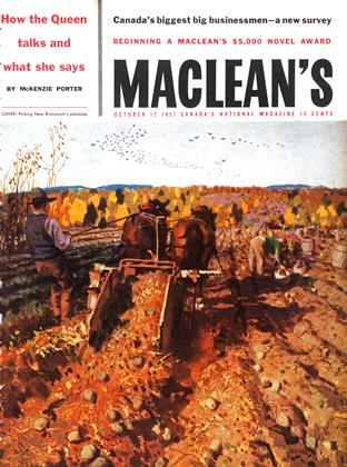 Cover for the October 12 1957 issue
