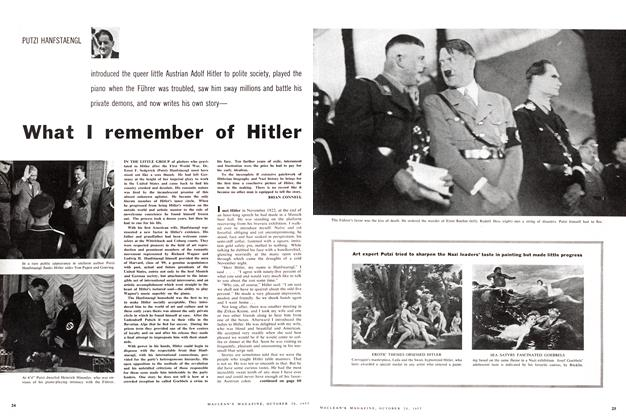 What I remember of Hitler