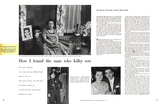 How I found the man who killey son