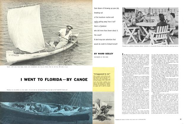 I WENT TO FLORIDA-BY CANOE
