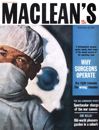 Cover for the September 23 1961 issue