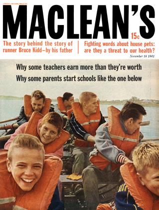 Cover for the November 18 1961 issue