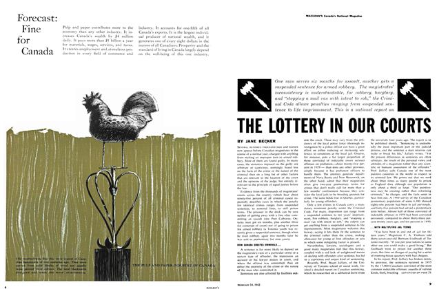 THE LOTTERY IN OUR COURTS