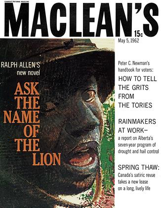 Cover for the May 5 1962 issue