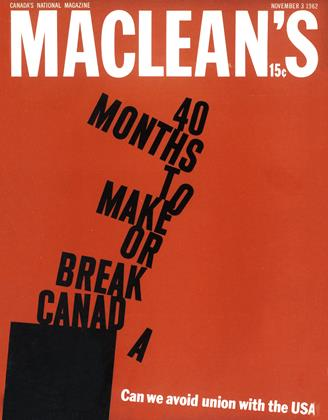Cover for the November 3 1962 issue