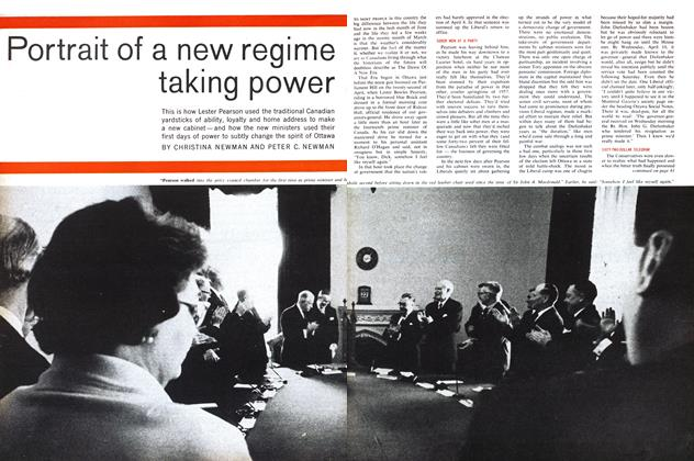 Portrait of a new regime taking power