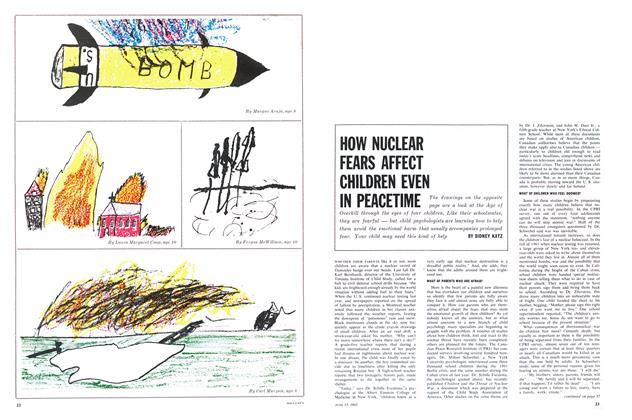 HOW NUCLEAR FEARS AFFECT CHILDREN EVEN IN PEACETIME