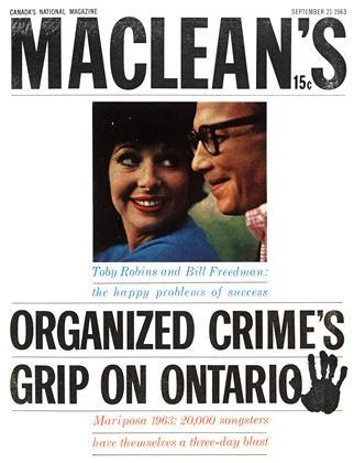 Cover for the September 21 1963 issue