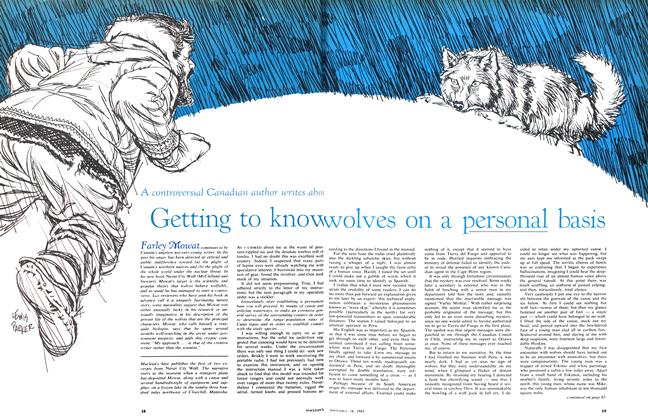 Getting to know wolves on a personal basis