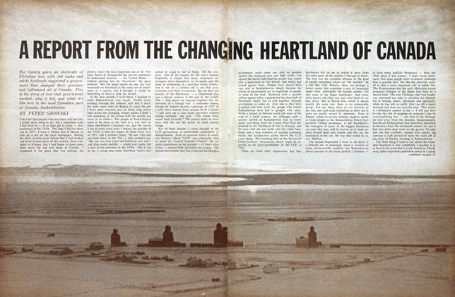 A REPORT FROM THE CHANG ING HEARTLAND OF CANADA