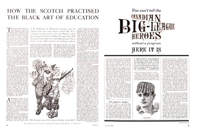 HOW THE SCOTCH PRACTISED THE BLACK ART OF EDUCATION