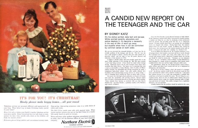 A CANDID NEW REPORT ON THE TEENAGER AND THE CAR