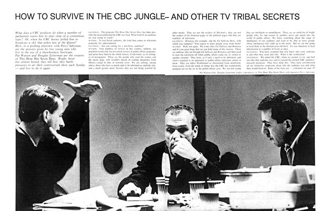 HOW TO SURVIVE IN THE CBC JUNGLE - AND OTHER TV TRIBAL SECRETS
