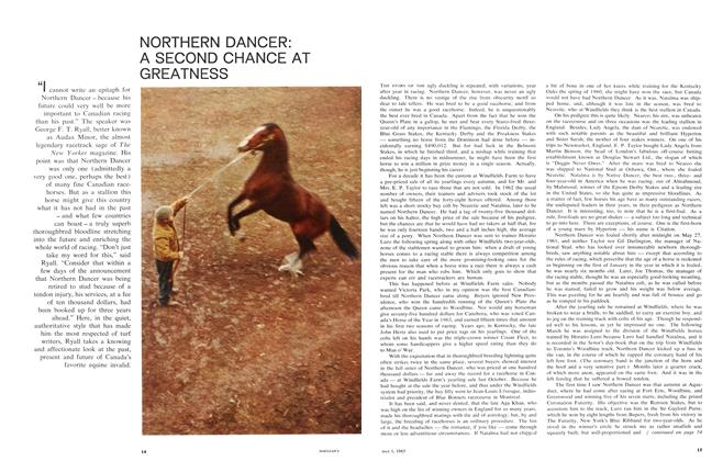 NORTHERN DANCER: A SECOND CHANCE AT GREATNESS
