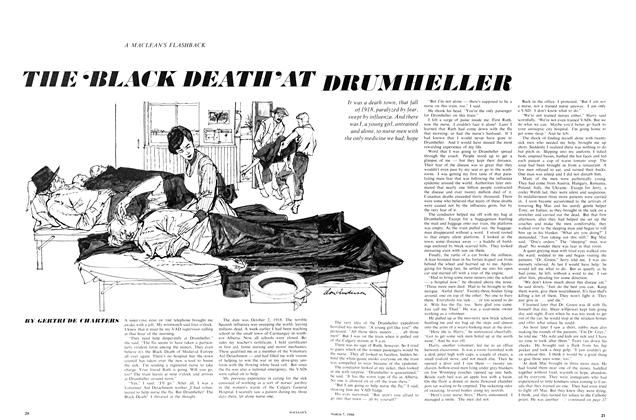 THE 'BLACK DEATH' AT DRUMHELLER