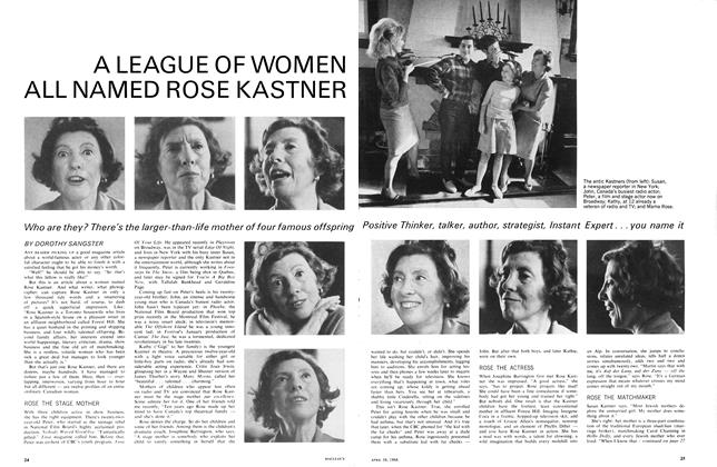 A LEAGUE OF WOMEN ALL NAMED ROSE KASTNER