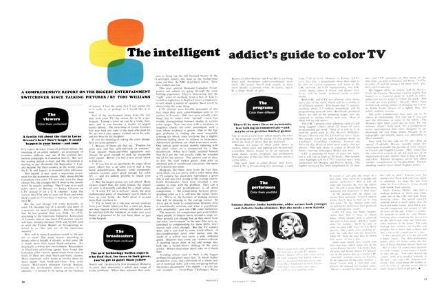 The intelligent addict's guide to color TV