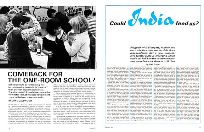 COMEBACK FOR THE ONE-ROOM SCHOOL?